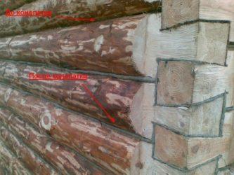 Как утеплить углы дома срубленного в лапу?