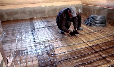 Технология укладки водяного теплого пола под плитку