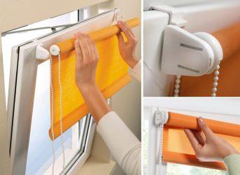 Как крепить рольшторы на пластиковые окна?