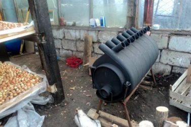 печь для обогрева теплицы длительного горения самоделка