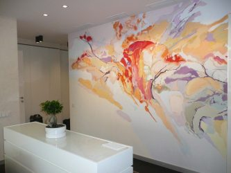Роспись стен акрилом технология